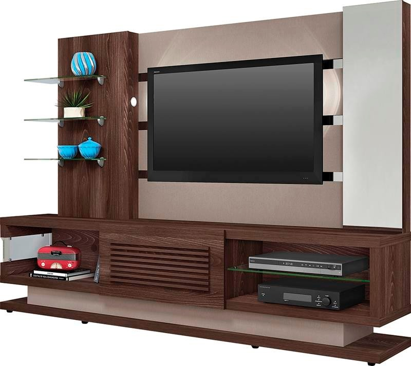 Estante Para Sala De Tv Planejada ~ Home Theater Estante Sala De Estar 210 Cm Órion Dj Móveis  R$ 2109