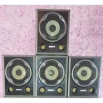 Kit 4 Caixas Acusticas Home Theater Sony 140w Rms Cada