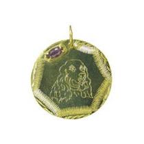 Placa De Identificação Do Cooker Spaniel, Em Banho De Ouro