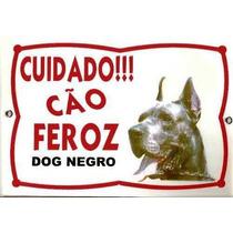 Placa Advertencia. Cuidado Cão Feroz Dog Alemão Frete Grátis
