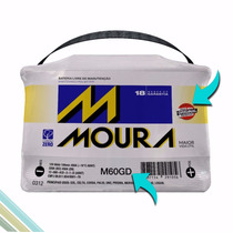 Moura Bateria 60ah Ampéres Automotiva - - M60gd / M60ge