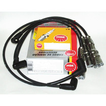 Kit Velas + Cabos Ngk Fiat 500 Palio Ideia 1.4 8v Fire...
