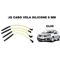 Jg Cabo Vela Silicone 8mm Renault Clio 1.0 16v Após 2005