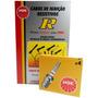Kit Cabos + Velas Ngk Fiat Premio 1.5 Álcool 1992/ (carb.)