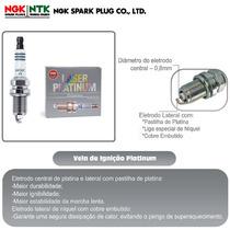 Vela De Ignição Ngk Laser Platinum Pmr9b Especial Para Gnv,