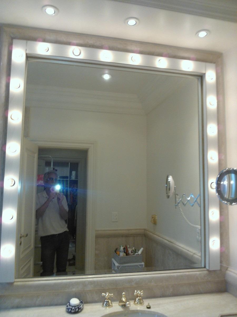 Iluminaçao De Banheiro Tipo Camarim Para Maquiagem5  R$ 160,00 no MercadoLivre -> Iluminacao Banheiro Pequeno