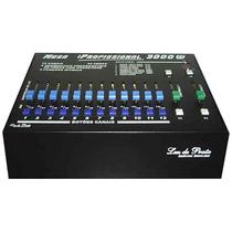 Mesa Dimmer 12 Canais 3000w, Áudio, 24 Cenas, 2 Sequenciais