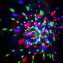 Lâmpada De Led Colorido Rotativa Giratória Bola Maluca Festa