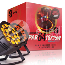 Kit 6 Led Par 64 Rgbwa 18x15w, Penta-led, + Interface Dmx
