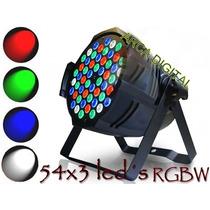 Kit 4 Refletores Led Par 64 Rgbw 54 Leds De 3w, Dmx, Strobo