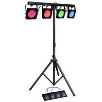 Par Led Disco 108 Kit Tripé - Iluminação Dj Dmx - Laserdj