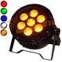 Refletor Led Outdoor Par 64 7 Leds Cree Original De 15w 5in1