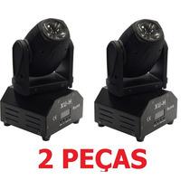 2 Mini Beam Moving Head Led 12w Cree Rgbw Dmx, Strobo, Prof.