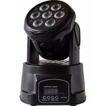 Mini Moving Head Wash 7 Leds 10w Rgbw Dmx Áudio-rítmico