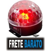 Globo Bola Maluca De Led Efeito De Luzes Giratório !!