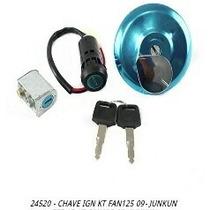 Chave Ignição Kit Fan125 2009-2013