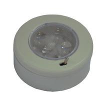 Luminária Náutica De Cabine 4 Leds Com Chave 12v 80 Mm