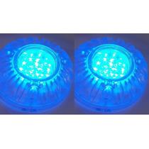 Luz Subaquatica Azul Led Para Barcos E Piscinas 12v (par)