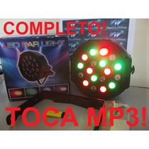 Canhão Led Par 64 Rgb Leds 3w, Ritmico, Mp3 E Bluetooth