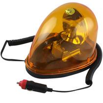 Luz De Emergência Giroflex Amarela 12v Oval