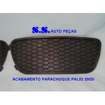 Moldura Acabamento Grade Parachoque Milha Fiat Palio Estrada