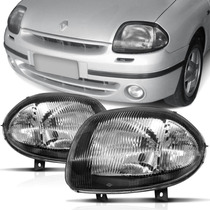 Farol Renault Clio 00 01 02 2000 2001 2002 Foco Simples