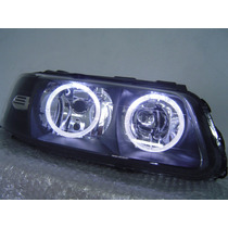 Farol Vw Gol G3 Mascara Negra Angel Eye´s Tuning Novo