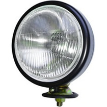 Farol Trator Redondo Mf/cbt Preto Esp Pe De Borracha Lamp H5