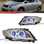 Farol Led Corolla 2009 2010 2011 Cromado Angel Eyes Par