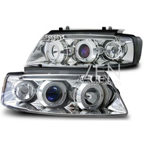 Tuning Import Par D Farol Projetor Angel Led Vw Passat 97/00