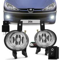 Kit Farol Milha Peugeot 206 99 00 2001 2002 2003 Neblina
