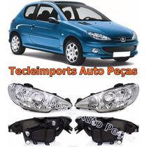 Par Farol Peugeot 206 Ano 04 05 06 07 08 09 10 11 Original