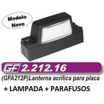 Lanterna Placa Caminhao Carretinha Acrilico Adaptação Vw Gm