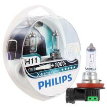 Kit Lâmpadas H11 + Hb3 + Hb4 Philips X-treme Vision 100%+luz