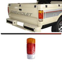 Lente Traseira Chevrolet D-20 85 A 95 Tricolor Acrílico