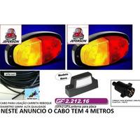 Kit Instalação Eletrica Carretinha 4 Metros Cabo + Lanternas