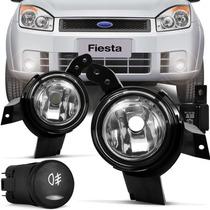 Kit Farol Milha Neblina Ford Fiesta 07/08/09+lampadas Brinde