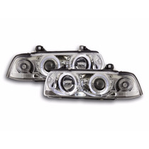 Par D Farol Projetor Angel Eyes + Led Bmw Serie 3 E36 92-98