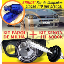 Kit Farol Milha Palio Siena Economy 2011 2012 + Xenon
