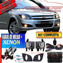 Kit De Farol Milha Vectra 2009-2011 Bt Orig Mold +xenon Fr