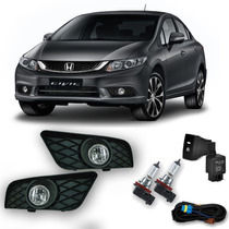 Kit Farol De Milha/neblina Completo Honda Civic 2015