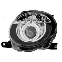 Tuning Imports Par Farol Projector Angel Eyes Fiat 500 09/15
