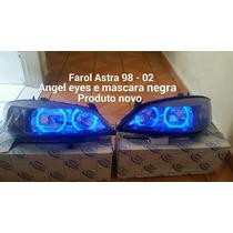 Par De Farol Astra 99 A 02 Com Mascara Negra E Angel Eyes.