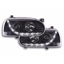 Tuning Imports Par De Farol Projector Drl Led Vw Golf 94/98