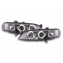 Par Farol Projetor Angel Eyes Led Sonar Gm Vectra 99/05