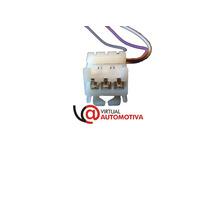 Soquete Plug Conector Lanterna Traseira Siena 3 Vias Superio