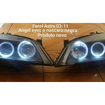 Par De Farol Astra 03 A 10 Com Mascara Negra E Angel Eyes.