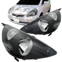 Farol Honda Fit 2003 2004 2005 2006 2007 Mascara Negra