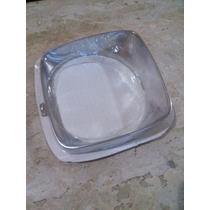 Par Aro Moldura Do Farol Do Opala Até 74 Aluminio Polido