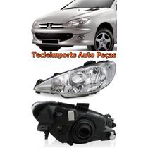 Farol Peugeot 206 Ano 04 05 06 07 08 09 10 11 Depo L/esq.